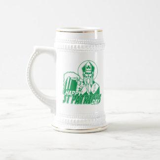 Happy St Patrick's Day Drinking Beer 18 Oz Beer Stein