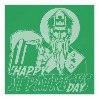 Happy St Patrick's Day Drinking Posters