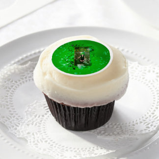 Happy St. Patrick's day Edible Frosting Rounds