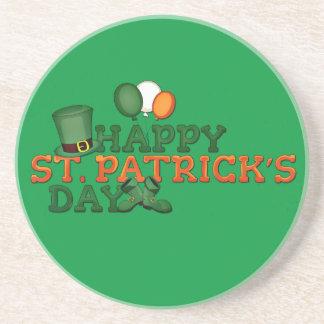 Happy St Patricks Day Embellished Sandstone Coaster