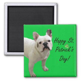 Happy St. Patrick's Day French Bulldog magnet