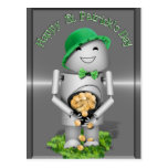 Happy St. Patrick's Day from Little Robo-x9 Postcard
