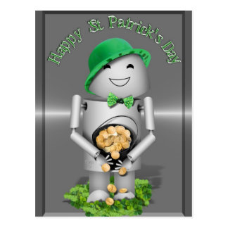 Happy St. Patrick's Day from Little Robo-x9 Post Cards