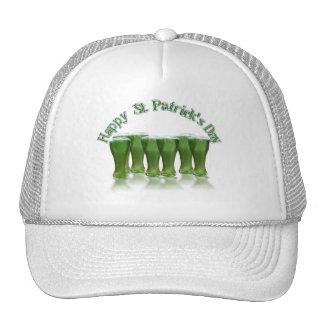 Happy St Patrick's Day Green Beer Trucker Hats