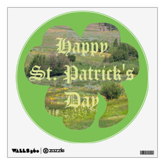 Happy St. Patrick's Day Green Meadow Wall Decal