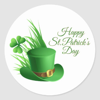 Happy St. Patrick's Day greetings Classic Round Sticker