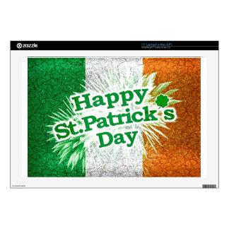 "Happy St. Patricks Day Grunge Style Design 17"" Laptop Skins"