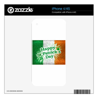 Happy St. Patricks Day Grunge Style Design Decals For The iPhone 4S