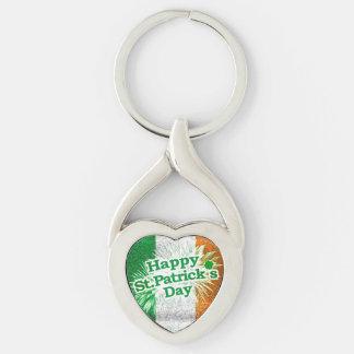 Happy St. Patricks Day Grunge Style Design Keychain