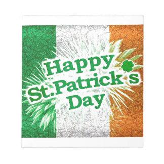 Happy St. Patricks Day Grunge Style Design Note Pad