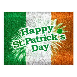 Happy St. Patricks Day Grunge Style Design Postcard