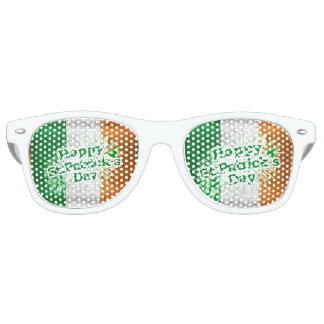 Happy St. Patricks Day Grunge Style Design Retro Sunglasses
