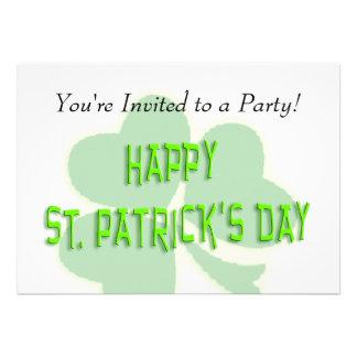 Happy St. Patrick's Day Personalized Invitation