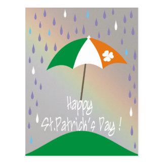 Happy St.Patrick's Day! Irish Flag Funny Postcard