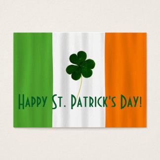 Happy St. Patrick's Day Irish Flag Shamrock Paddy Business Card