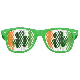 Happy St. Patrick's Day Irish Flag Shamrock Paddy Retro Sunglasses