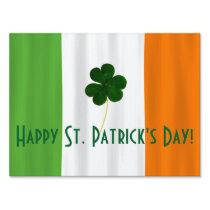 Happy St. Patrick's Day Irish Flag Shamrock Paddy Sign