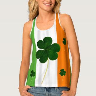 Happy St. Patrick's Day Irish Flag Shamrock Paddy Tank Top