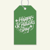 Happy St Patricks Day Irish Green Shamrock Custom Gift Tags