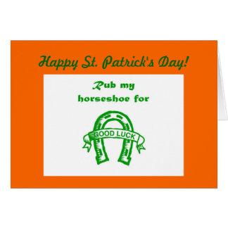 Happy St. Patrick's Day Irish luck I'm Irish Saint Card
