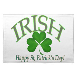 happy st patrick 39 s day placemats happy st patrick 39 s day place mats