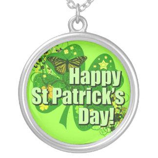 Happy St Patricks Day Irish Custom Necklace