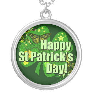 Happy St Patricks Day Irish Necklace