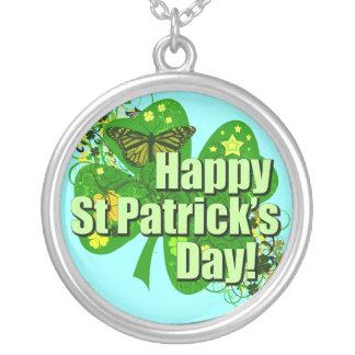 Happy St Patricks Day Irish Personalized Necklace