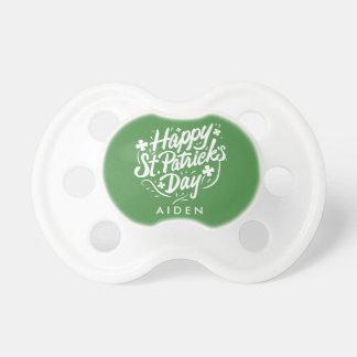 Happy St Patricks Day Irish Shamrock Personalized Pacifier