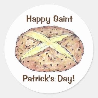 Happy St. Patrick's Day Irish Soda Bread Stickers