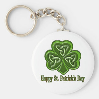Happy St. Patrick's Day Keychain