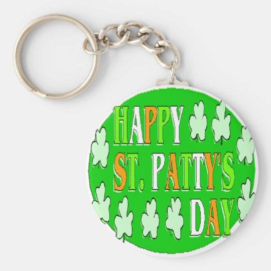 Happy St Patrick's Day Keychain
