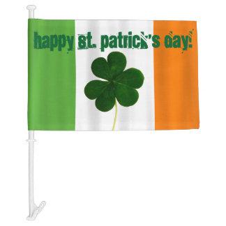 Happy St. Patrick's Day Lá Fhéile Pádraig Irish Car Flag