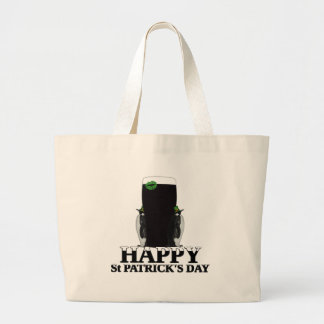 Happy St Patrick's Day Large Tote Bag