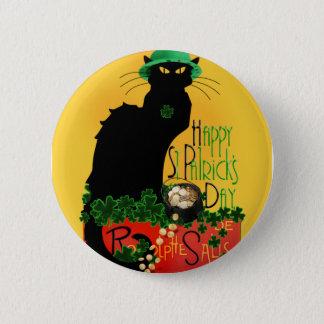 Happy St Patrick's Day - Le Chat Noir Button
