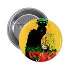 Happy St Patrick's Day - Le Chat Noir Pinback Buttons