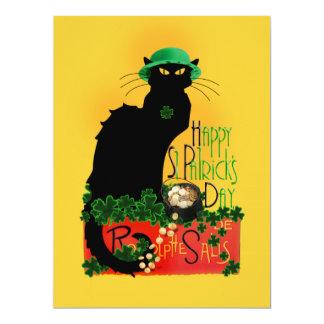 Happy St Patrick's Day - Le Chat Noir Card