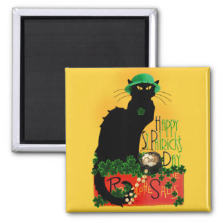 Happy St Patrick's Day - Le Chat Noir Magnet