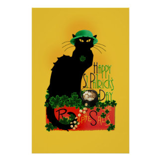 Happy St Patrick's Day - Le Chat Noir Poster
