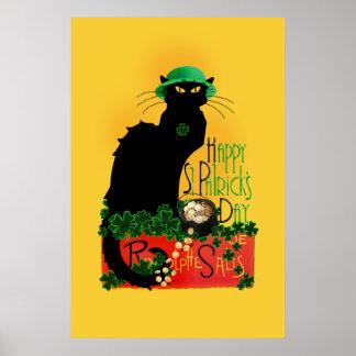 Happy St Patrick's Day - Le Chat Noir Poster