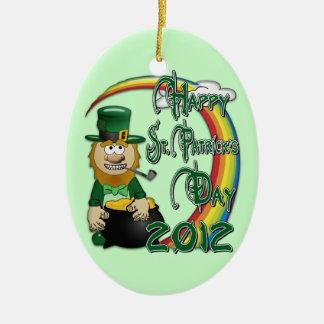 Happy St Patricks Day Leprechaun 2012 2S Christmas Tree Ornaments