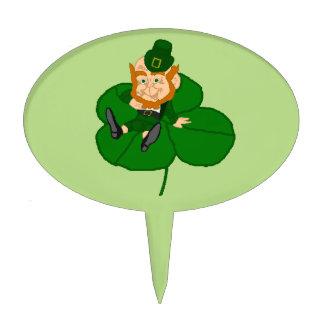 Happy St. Patrick's Day Leprechaun Cake Pick