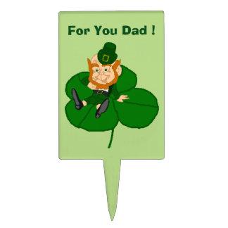 Happy St. Patrick's Day Leprechaun Custom Cake Topper