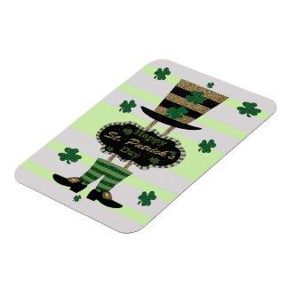 Happy St. Patrick's Day Leprechaun Hat Shoes Magnet