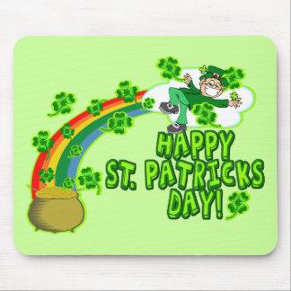 Happy St Patricks Day Leprechaun Mouse Pad