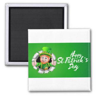 Happy St Patricks Day Leprechaun Thumbs Up Magnet