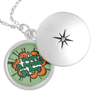 Happy St. Patrick's Day Locket Necklace