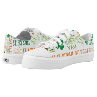 Happy St. Patrick's Day Low-Top Sneakers