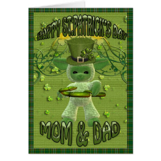Happy St. Patrick's Day Mom and Dad Greeting Cards