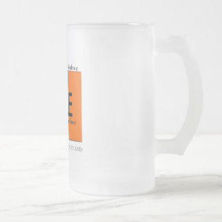 Happy St Patrick's Day Mug! Frosted Glass Beer Mug